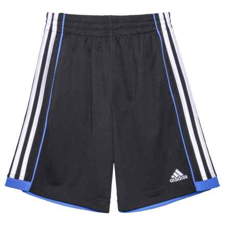 adidas ClimaLite® Next Speed Shorts (For Big Boys) in Black/Blue - Closeouts
