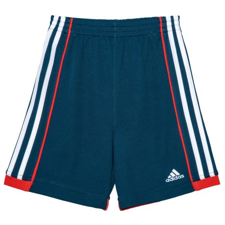 adidas ClimaLite® Next Speed Shorts (For Little Boys and Toddlers) in Navy/Red