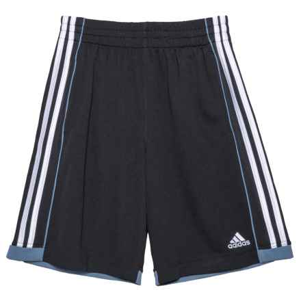 adidas ClimaLite® Next Speed Shorts (For Little Boys) in Black - Closeouts