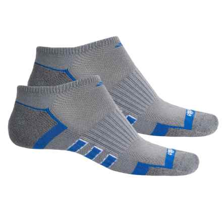 adidas ClimaLite® TRAXION® Socks - 2-Pack, Below the Ankle (For Men) in Grey/Onix-Grey Marl/Blue/White - Closeouts