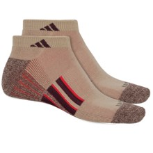 adidas ClimaLite® TRAXION® Socks - 2-Pack, Below the Ankle (For Men) in Khaki/Chocolate Marl/Maroon/Red - Closeouts