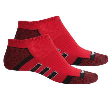 adidas ClimaLite® TRAXION® Socks - 2-Pack, Below the Ankle (For Men) in Power Red/Black/Black-Power Red Marl/Grey - Closeouts