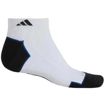 adidas ClimaLite® TRAXION® Socks - 2-Pack, Below the Ankle (For Men) in White/Black/Collegiate Royal - Closeouts