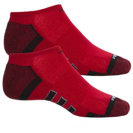 adidas ClimaLite® X II Socks - 2-Pack, Below the Ankle (For Men) in Power Red/Black/Black-Power Red Marl/Grey - Closeouts
