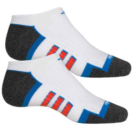 adidas ClimaLite® X II Socks - 2-Pack, Below the Ankle (For Men) in White/Shock Blue/Bold Orange/Black-Onix Marl - Closeouts