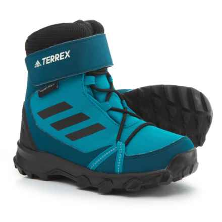 adidas ClimaProof® Terrex Cloudfoam® ClimaWarm® Snow Boots - Waterproof, Insulated (For Big and Little Kids) in Mystery Petrol/Black/Blue Night - Closeouts