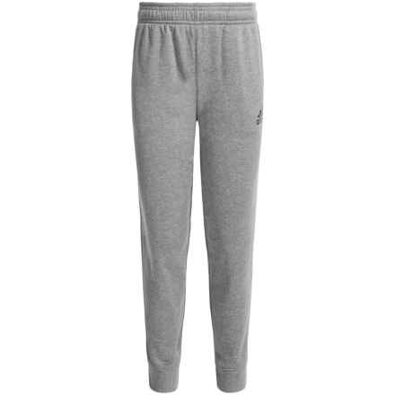 adidas ClimaWarm® Ultimate Fleece Joggers (For Big Boys) in Charcoal Solid Grey Heather - Closeouts