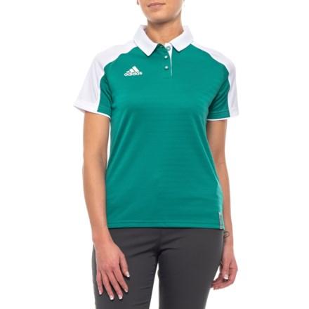 e0a21586 adidas Coaches ClimaLite® Polo Shirt - Short Sleeve (For Women) in  Collegiate Aqua
