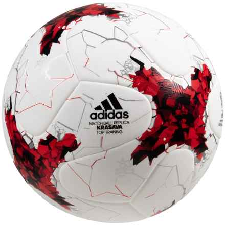 adidas Confederations Cup Replica Soccer Ball - Size 5 in White/Red - Closeouts