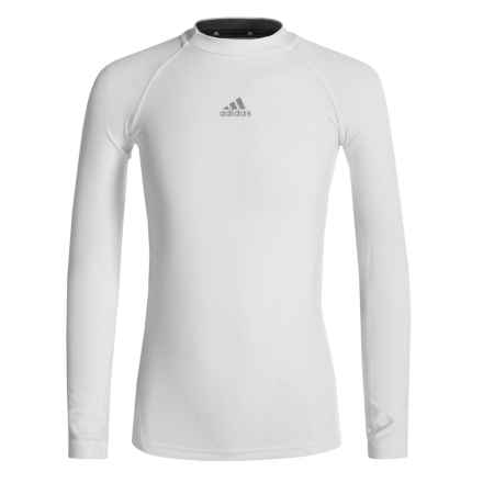 adidas Core Compression ClimaLite® T-Shirt - Long Sleeve (For Big Boys) in White - Closeouts