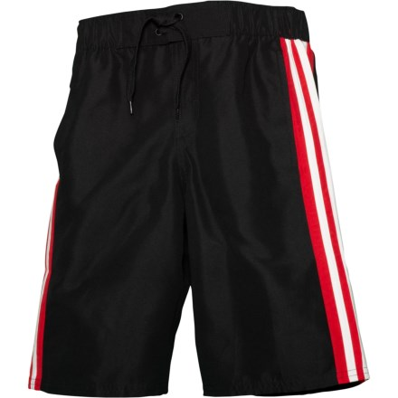 3fadc2754369c adidas Core Iconic Volley Swim Trunks - Black (For Big Boys) in Black -