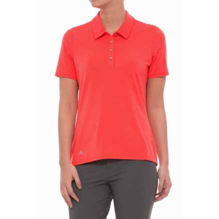 adidas Cotton Hand Polo Shirt - Short Sleeve (For Women) in Eacoht - Closeouts
