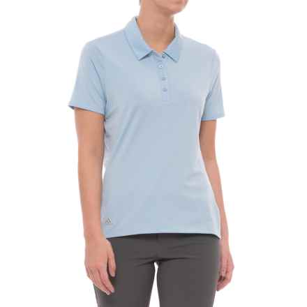 adidas Cotton Hand Polo Shirt - Short Sleeve (For Women) in Easy Blue - Closeouts
