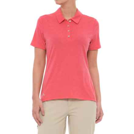 adidas Cotton Hand Polo Shirt - Short Sleeve (For Women) in Energy Pink - Closeouts