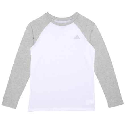 adidas Cotton Jersey Shirt - Long Sleeve (For Big Boys) in White W  0708bdcc2dc