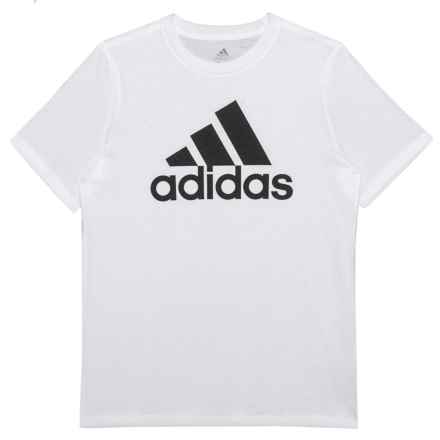 new style b5a1e 39370 adidas Cotton Jersey T-Shirt - Short Sleeve (For Big Boys) in White