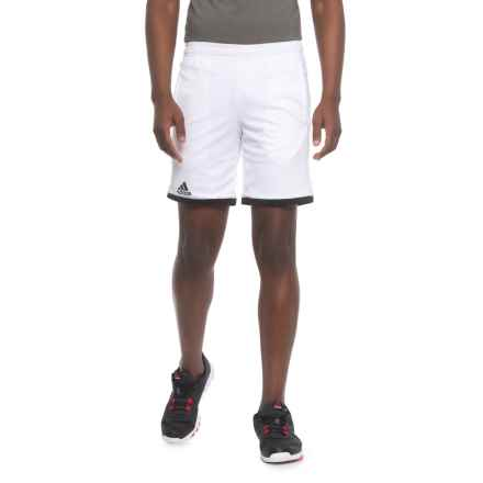 "adidas Court Shorts - 8"" (For Men) in White/Black - Closeouts"