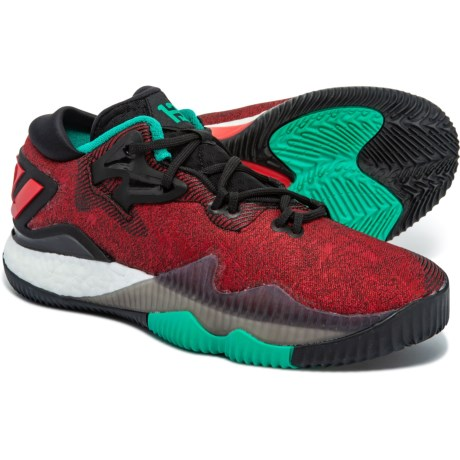 adidas Crazylight Boost Low Basketball Shoes (For Big Kids) in Ray  Red Scarlet 05198705ed82