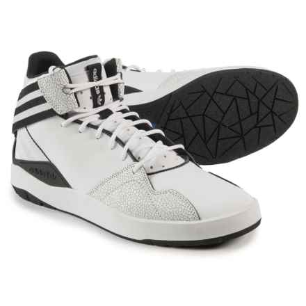 adidas Crestwood Mid-Top Shoes - Leather (For Men) in White/Black - Closeouts