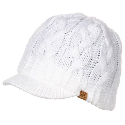 2bcedc29bc adidas Crystal Brimmer Beanie (For Women) in White - Closeouts
