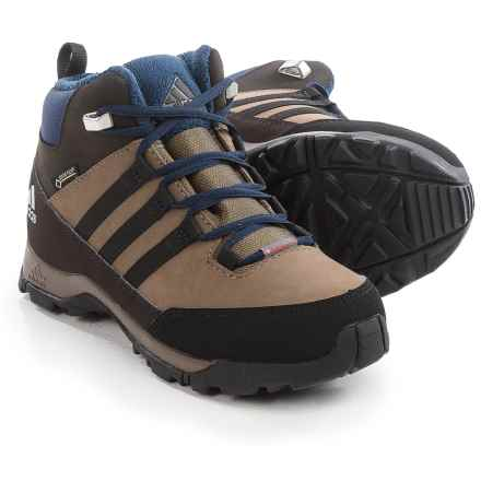 adidas CW Winter Hiker Gore-Tex® Mid Boots - Waterproof, Insulated (For Little and Big Kids) in Grey Blend/Black/Night Brown - Closeouts
