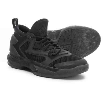 adidas Damian Lillard 2 Basketball Shoes (For Little and Big Kids) in Core Black/Core Black - Closeouts