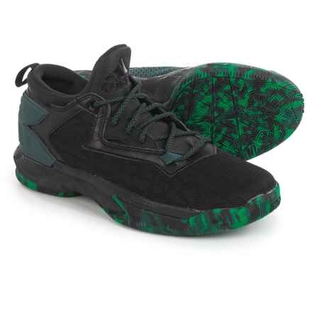 adidas Damian Lillard 2 Basketball Shoes (For Men) in Black/Green - Closeouts