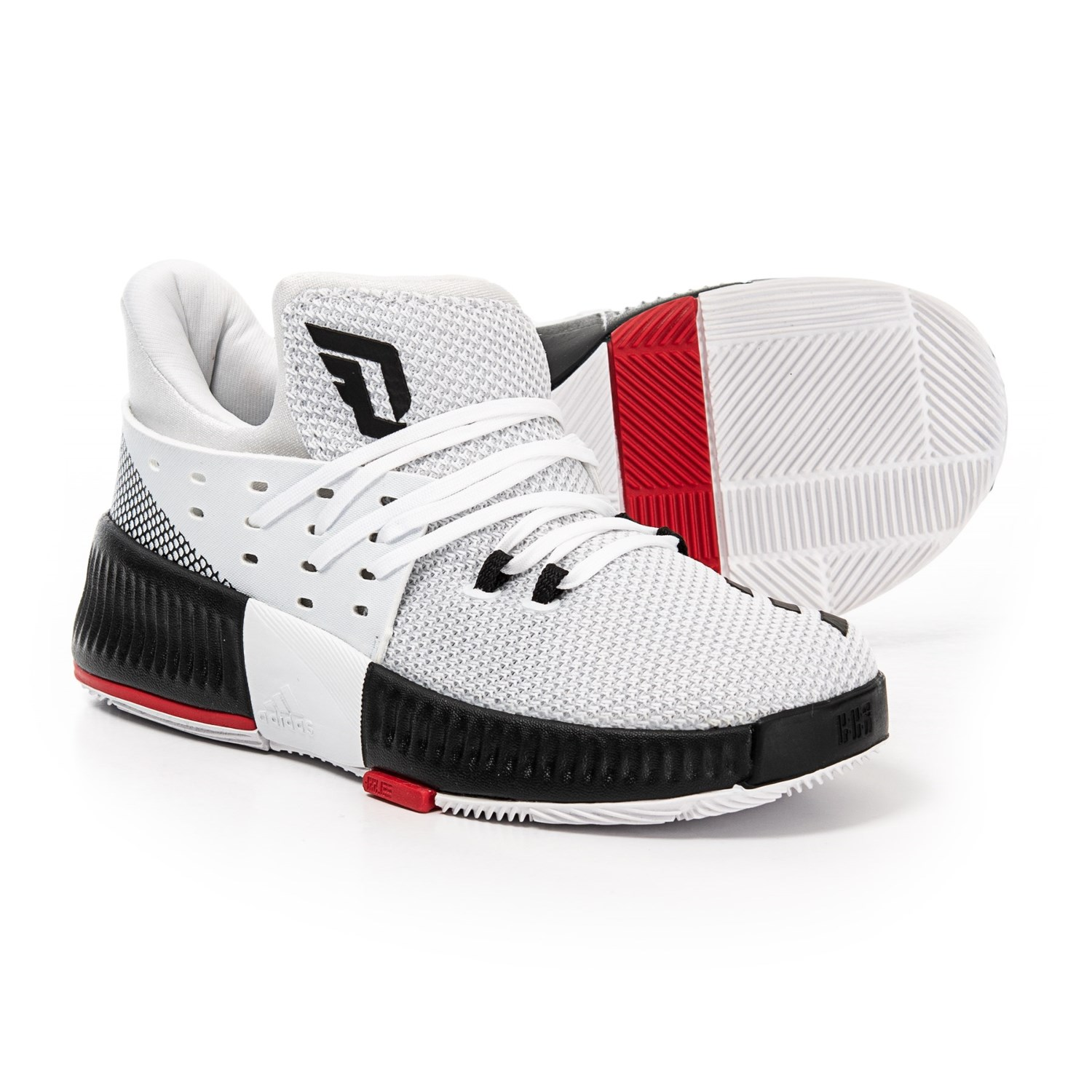 e1a2d63f3d65 adidas Damian Lillard 3 Basketball Shoes (For Little and Big Kids) in  Footwear White