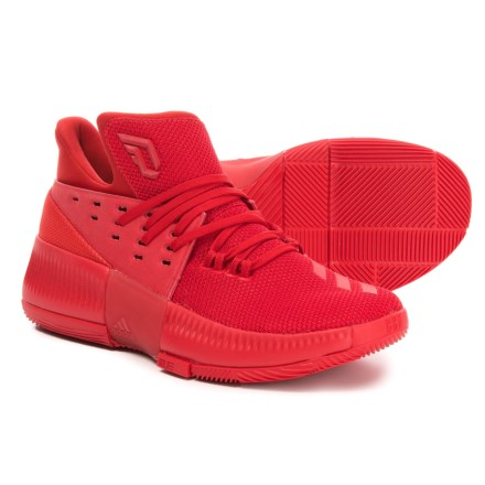 check out fb284 5a3d7 Clearance. adidas Damian Lillard 3 Basketball Shoes (For Little and Big  Kids) in Scarlet