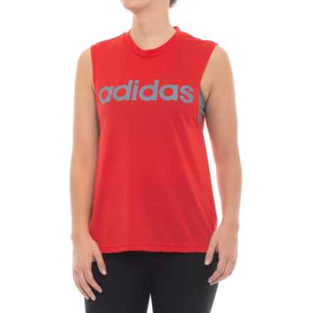 adidas Dash Tank Top (For Women) in Scarlet - Closeouts