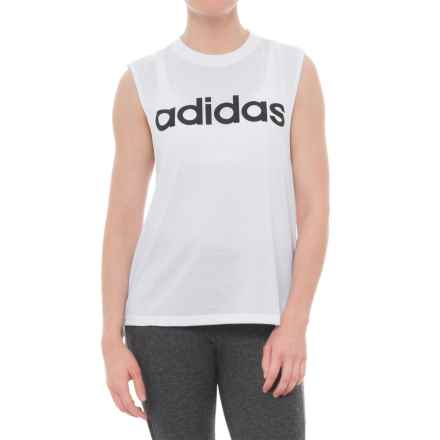 adidas Dash Tank Top (For Women) in White/Black - Closeouts