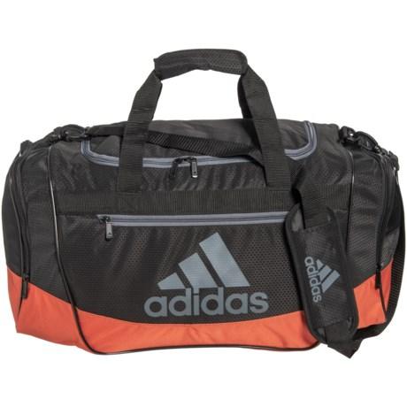 d3fde24cc adidas Defender III Duffel Bag - Medium in Black/Raw Amber Orange/Onix