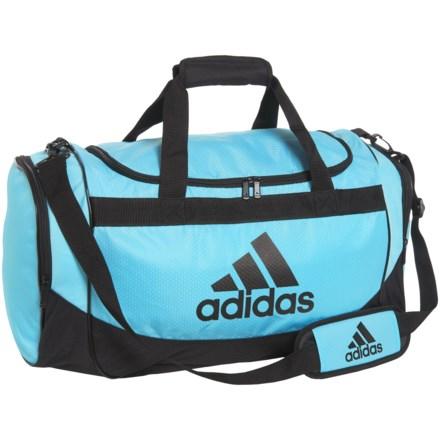 6254598c14e9 adidas Defender III Duffel Bag - Small in Bright Cyan Black - Closeouts