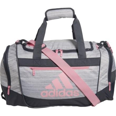 73ac22823 adidas Defender III Duffel Bag - Small in White/True Pink/Onix