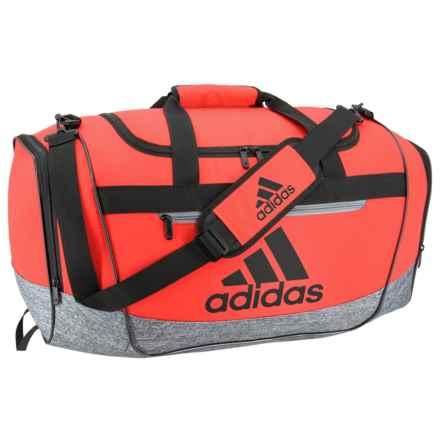 adidas Defender III Medium Duffel Bag in Hi-Res Red/Onix Jersey/Black/Grey - Closeouts