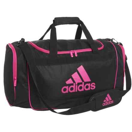 adidas Defense Duffel Bag - Medium in Black/Intense Pink - Closeouts