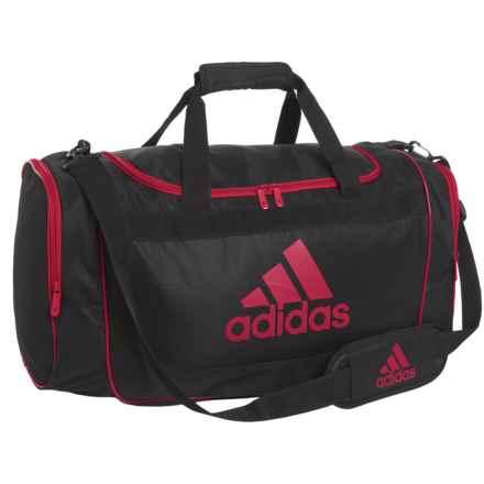 adidas Defense Duffel Bag - Medium in Black/University Red - Closeouts