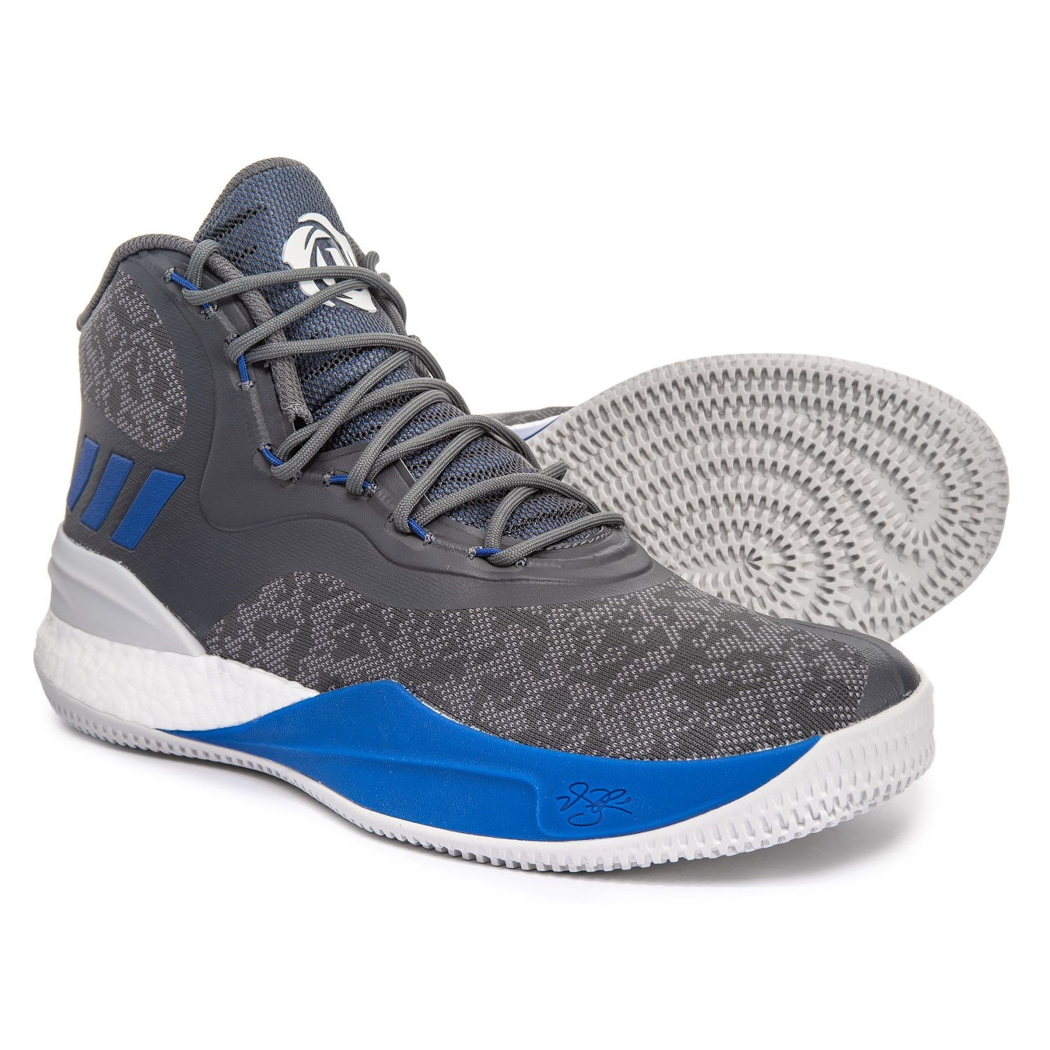 hot sale online 7b646 0a16c adidas Derrick Rose 8 Basketball Shoes (For Men) in GreyBlue Solid
