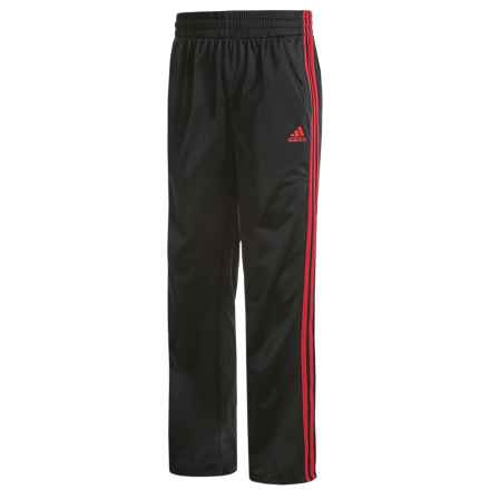adidas Designator Tricot-Lined Pants (For Big Boys) in Black/Light Scarlet - Closeouts