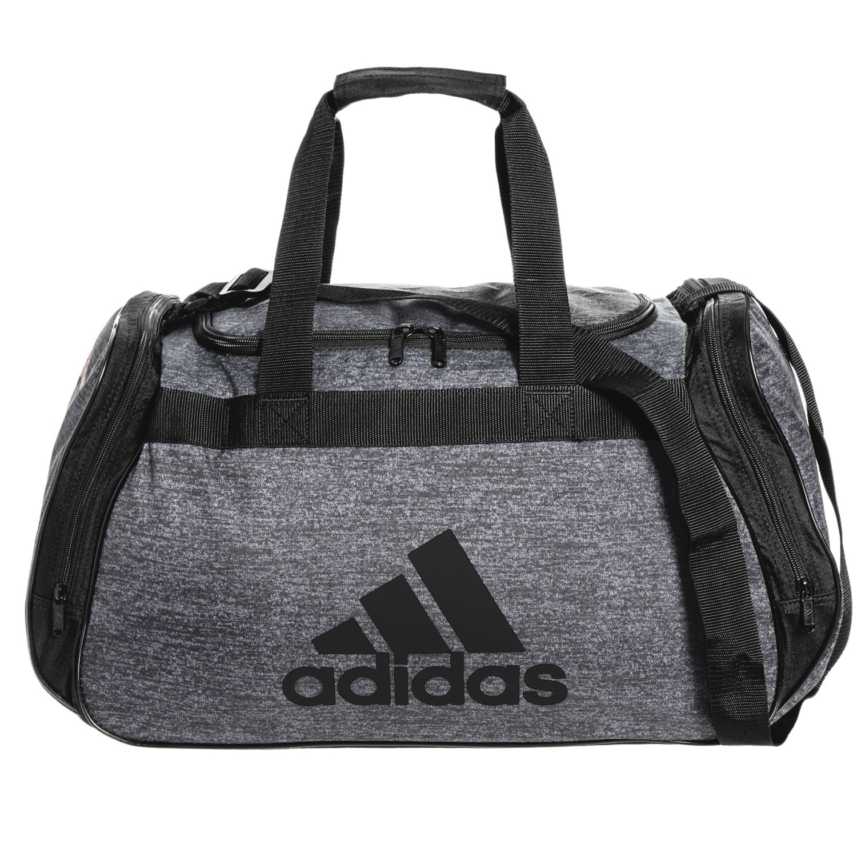 3218c5af54e6 adidas Diablo Medium II Duffel Bag in Onix Jersey Black ...