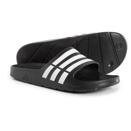 69c4d0a80 adidas Duramo Slide Sandals (For Men) in Core Black/White - Closeouts