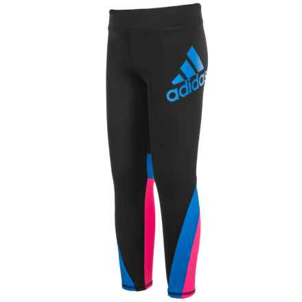 adidas Dynamic High-Performance Leggings (For Little Girls) in Caviar Black - Closeouts