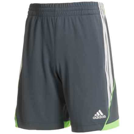adidas Dynamic Speed Shorts (For Big Boys) in Grey/Green - Closeouts