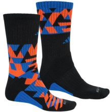 adidas Energy Midweight Socks - 2-Pack, Crew (For Men) in Black/Blue/Solar Orange - Closeouts