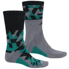 adidas Energy Midweight Socks - 2-Pack, Crew (For Men) in Onix/Eqt Green/Black - Closeouts