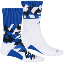 adidas Energy Midweight Socks - 2-Pack, Crew (For Men) in White/Bold Blue/Black - Closeouts