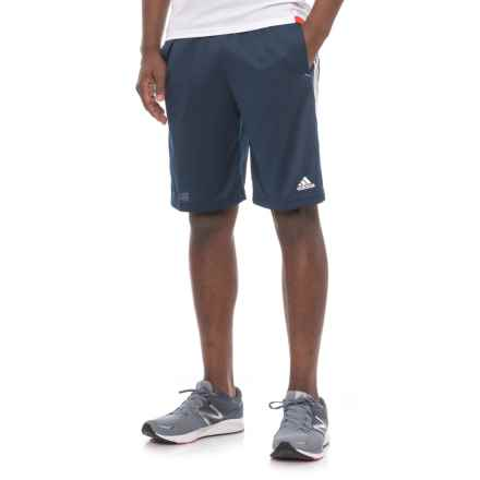 adidas Essential Athletic Shorts (For Men) in Collegiate Navy/White - Closeouts