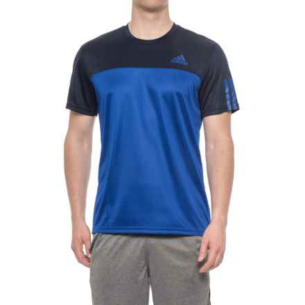 adidas Essential Color-Block T-Shirt - Short Sleeve (For Men) in Collegiate Navy - Closeouts