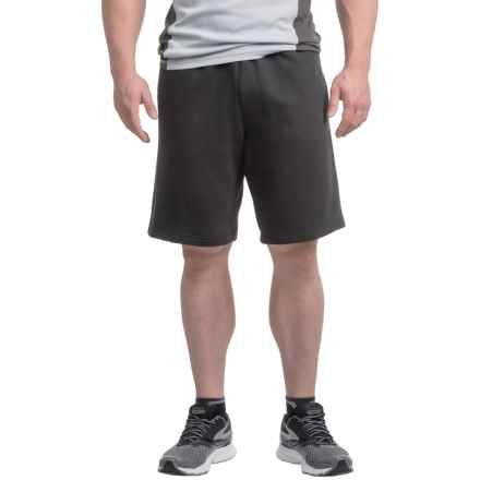 adidas Essential Sweat Shorts (For Men) in Black/ Dark Grey - Closeouts