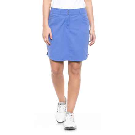 adidas Essentials 3-Stripes Golf Skort (For Women) in Baja Blue - Closeouts
